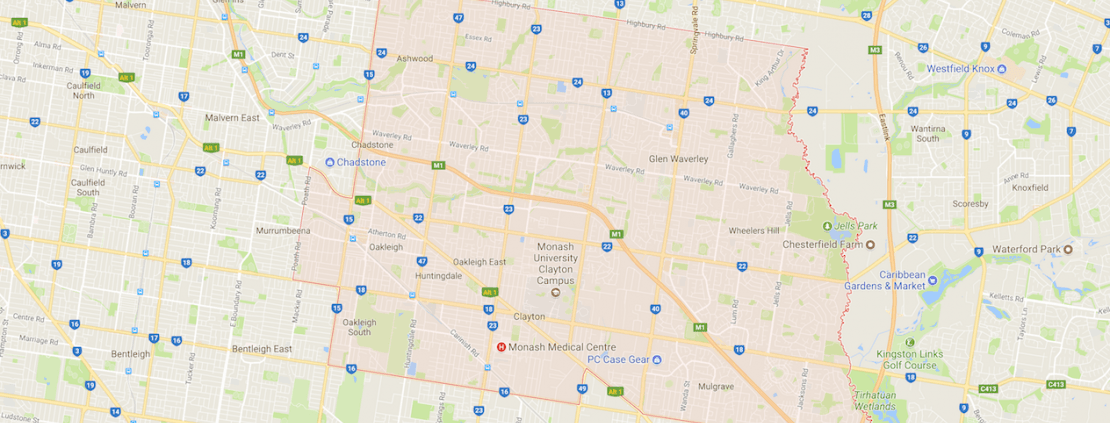 City of Monash map